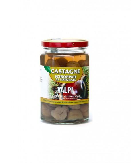 Castagne sciroppate al Naturale 300/170 g - Valpi