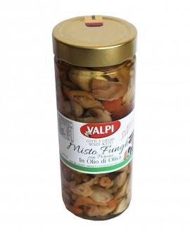 Funghi misti + porcini sotto olio di oliva 280 g - Valpi