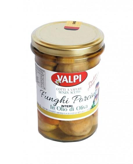 Funghi porcini interi sotto olio di oliva 290 g - Valpi